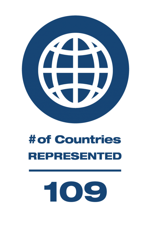 109 Countries Represented